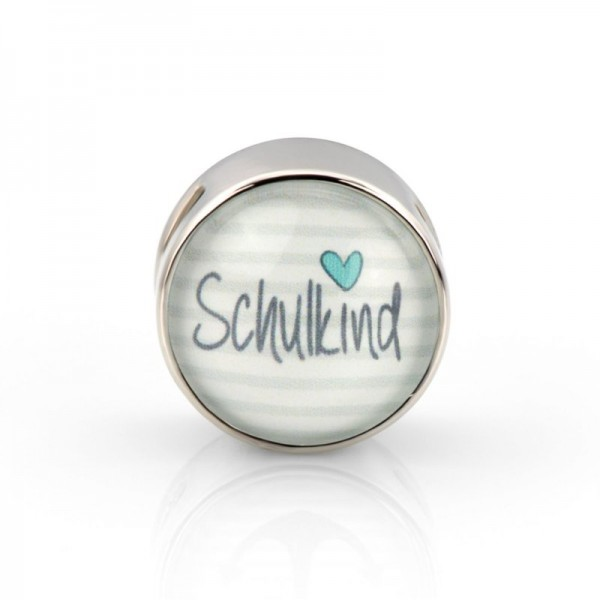 Schiebeperle Schulkind mint (Glascabochon)